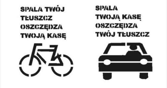 rower vs. samochód - mem