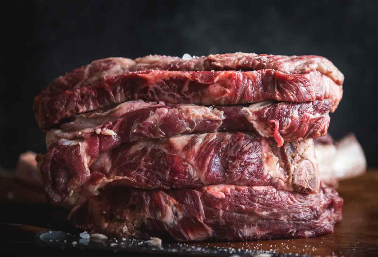 Czerwone mięso - surowa wołowina
