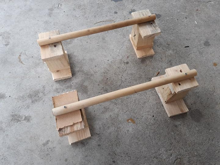 Paraletki drewniane z euro palety