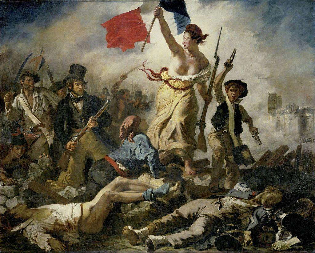 """Reprodukcja obrazu """"Wolność wiodąca lud na barykady"""""""