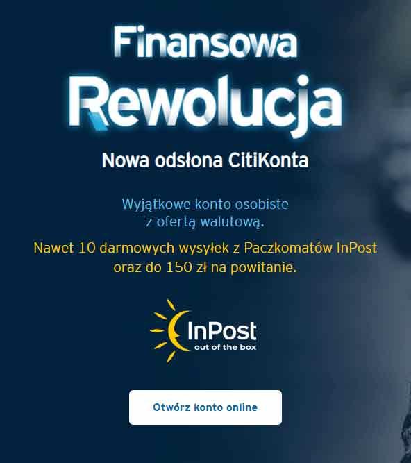 Citi - finansowa rewolucja - otwórz konto - reklama - promocje bankowe